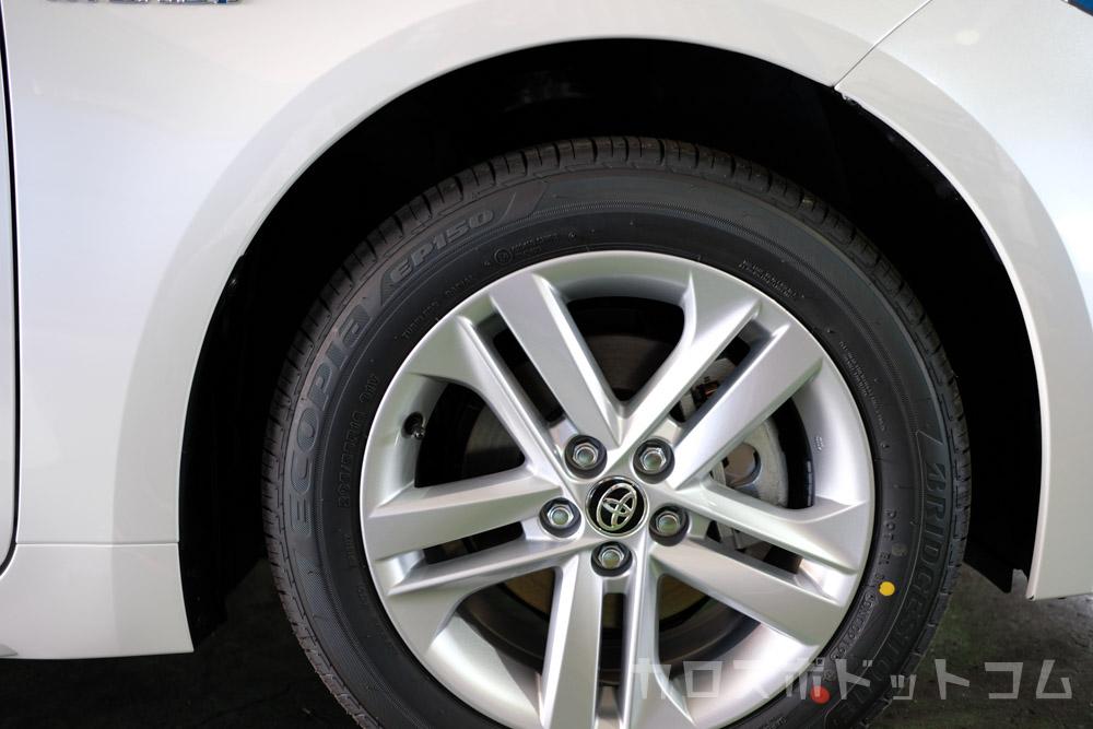 カローラスポーツハイブリッドGのタイヤエコピアEP150